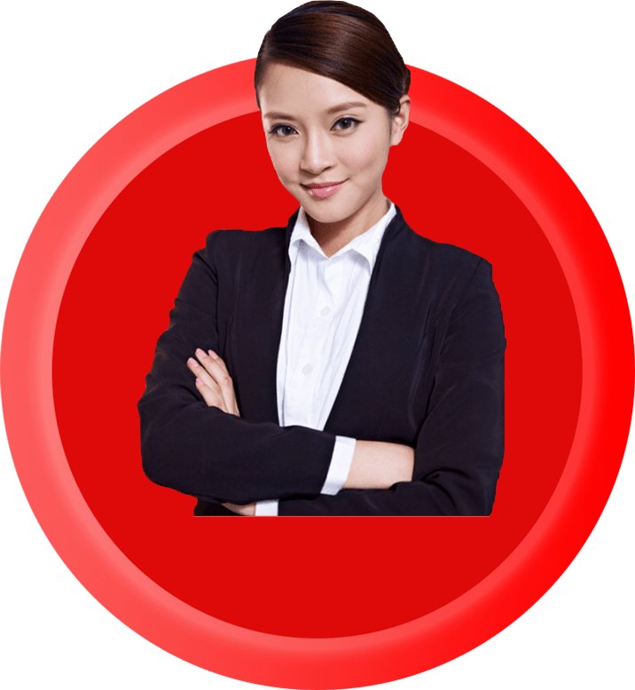 young female professional working with a legal moneylender